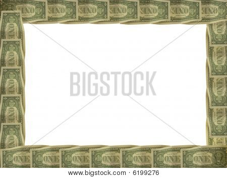 Dollar Bill With White Border