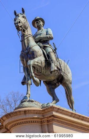 General Winfield Scott Hancock Equestrian Statue Civil War Memorial Pennsylvania Ave Capitol Hill Wa