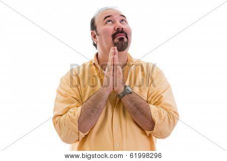 Man Praying For Inspiration