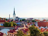 foto of olaf  - View to ancient old town and the tower of St Olaf - JPG