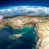 Fragments Of The Planet Earth. Fragments Of The Planet Earth. Cyprus, Syria And Turkey mouse pad