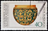 GERMANY - CIRCA 1976: A stamp printed in Germany shows Archaeological Heritage Gold-ornamental bowl