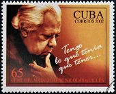 CUBA - CIRCA 2002: A stamp printed in Cuba shows Nicolas Guillen I have what I had to have