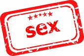 stock photo of pornographic  - sex Rubber Stamp over a white background - JPG