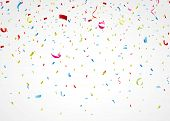 pic of confetti  - Vector Illustration of colorful confetti on white background - JPG