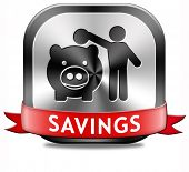 picture of piggy  - savings money saving in piggy bank deposit account with plan to save cash online banking - JPG