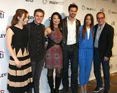 LOS ANGELES - MAR 23:  Henstridge,  De Caestecker, Ming-Na, Brett Dalton, Bennet, Gregg at the Paley