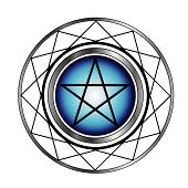stock photo of baphomet  - A Stylized Pentacle - JPG