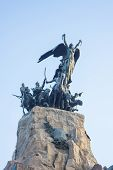 foto of mendocino  - Monument to the Army of the Andes at the top of the Cerro de la Gloria at the General San Martin Park inaugurated on February 12 1914 anniversary of the Battle of Chacabuco in Mendoza Argentina - JPG