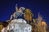 picture of mendocino  - San Martin Square one of the four smaller plazas located 2 blocks off each corner of Independence Plaza in Mendoza Argentina - JPG