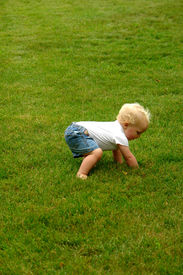 image of stand up  - baby attempting to stand up  - JPG