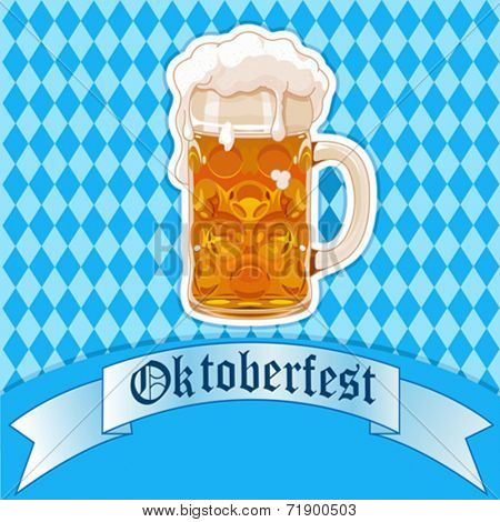 Oktoberfest Celebration background with beer glass