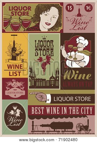Wine retro set