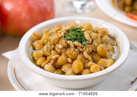 Chickpea Soup , Traditional Chickpea plate