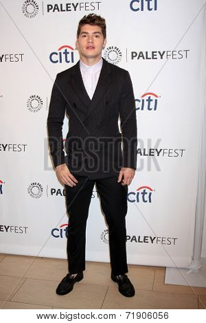 LOS ANGELES - SEP 12:  Gregg Sulkin at the Mercy For Animals 15th Anniversary Gala  at London Hotel on September 12, 2014 in West Hollywood, CA