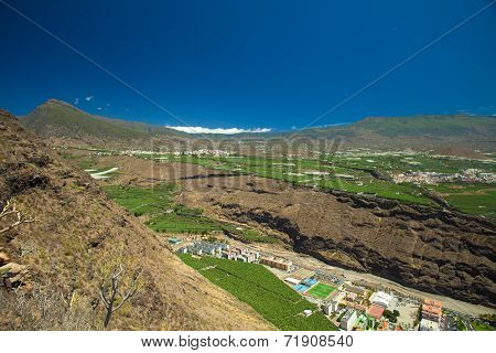 La Palma, View From Viewpoint Mirador El Time