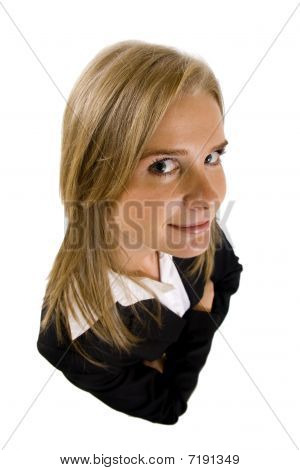 Dynamic View Of Serious Businesswoman