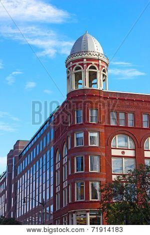 Historic and modern architecture of Washington DC USA.