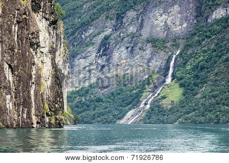 Waterfall In The Geirangerfjord