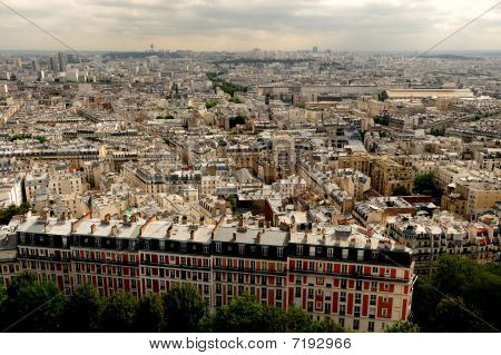 Aerial photo of Paris
