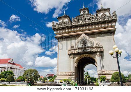Patuxai Gate In Vientiane.