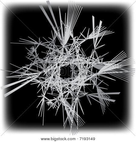 Black & White Abstract Illustration