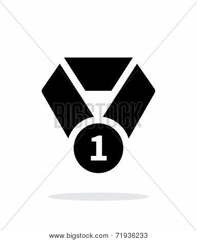 First place medal seample icon.