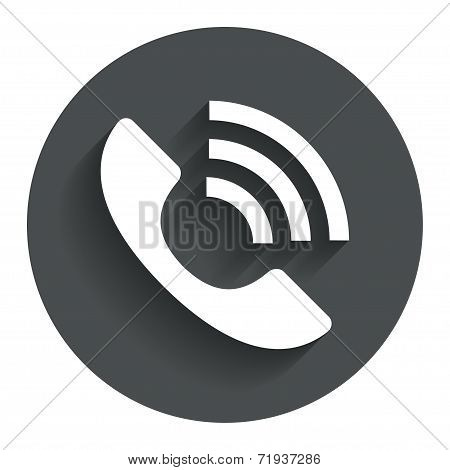 Phone sign icon. Support symbol.