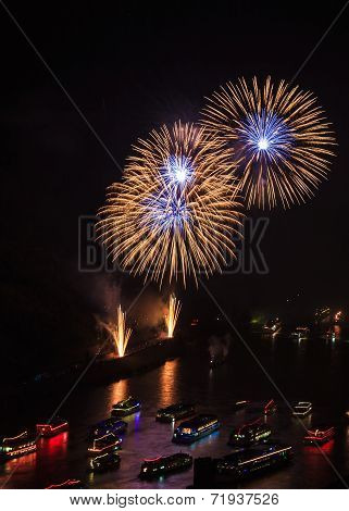 Firework Over The Rhine Valley