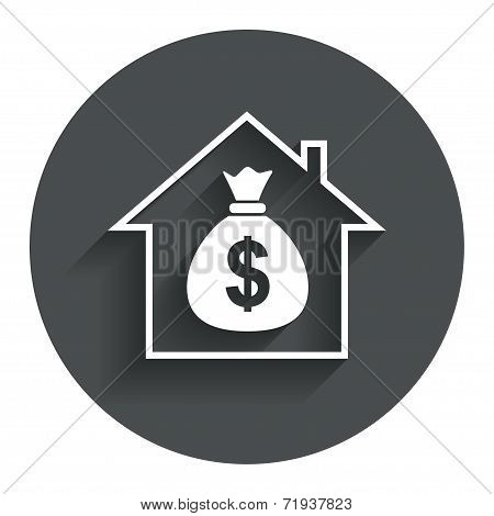 Mortgage sign icon. Real estate symbol.