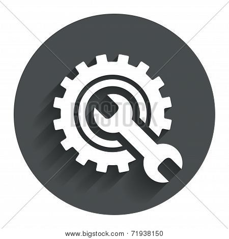 Repair tool sign icon. Service symbol.