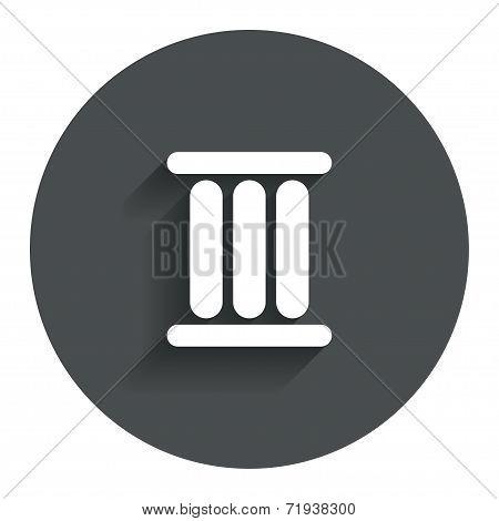 Roman numeral three icon. Roman number three sign.