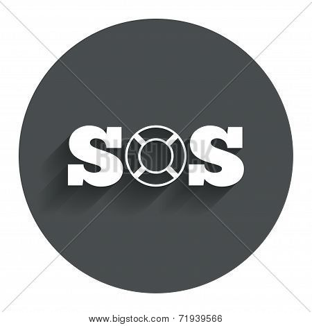 SOS sign icon. Lifebuoy symbol.