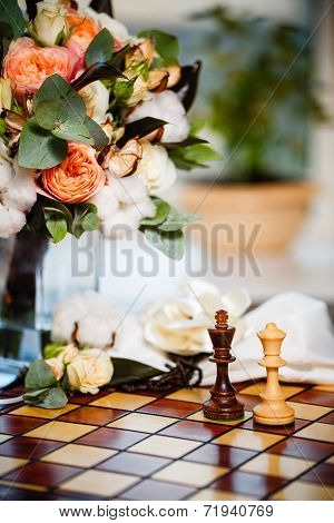 Chess And Flowers