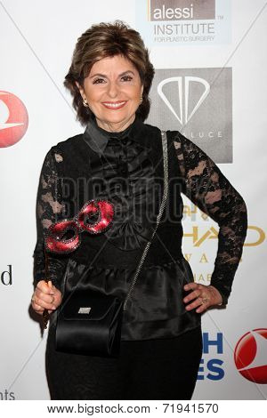 LOS ANGELES - SEP 13:  Gloria Allred at the 5th Annual Face Forward Gala at Biltmore Hotel on September 13, 2014 in Los Angeles, CA