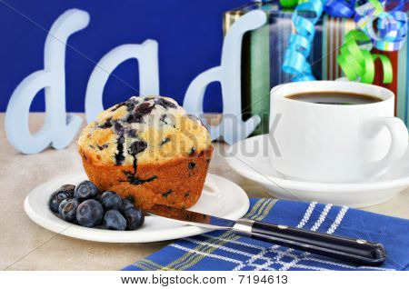 Blueberry Muffin Breakfast For Dad's Day