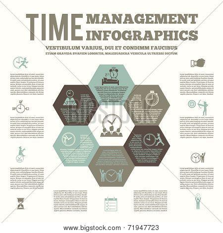 Time management infografic  poster