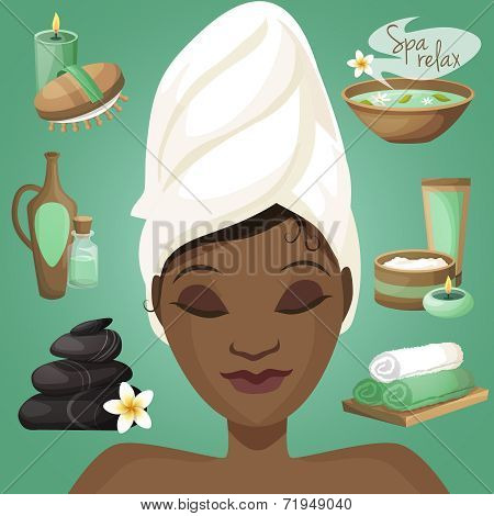 Black woman in spa