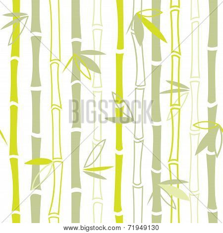 Green bamboo seamless pattern