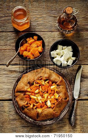 Rye Galette With Honey Pumpkin And Goat Cheese