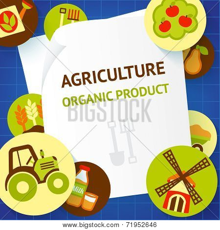 Agriculture background template