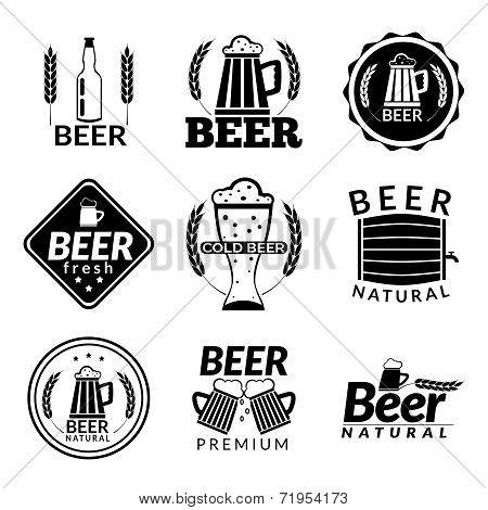 Beer black emblems