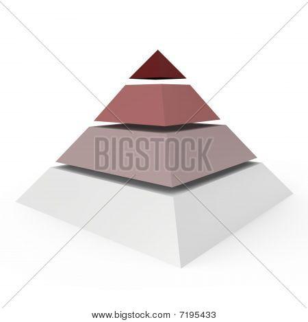 A 4 level pyramid - a 3d image