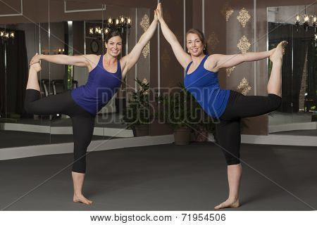 Women in Yoga Poses