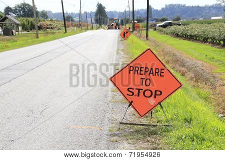 Sign on a Road Construction Site