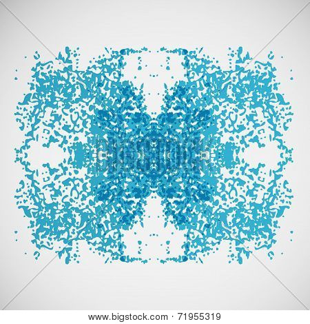 Abstract vector illustration of chaotic points eps