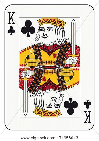 King of clubs playing card