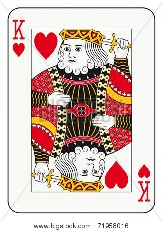King of hearts playing card