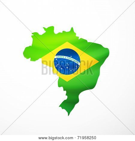 Vector flag maps of Brazil