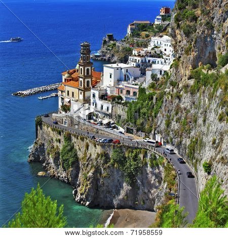 pictorial Amalfitana coast - view of Atrani village
